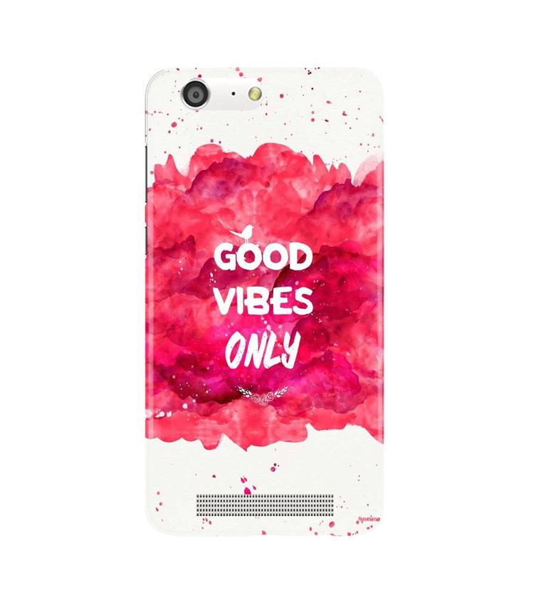 Good Vibes Only Mobile Back Case for Gionee M5 (Design - 393)