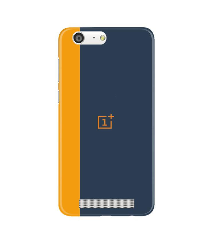 Oneplus Logo Mobile Back Case for Gionee M5 (Design - 395)