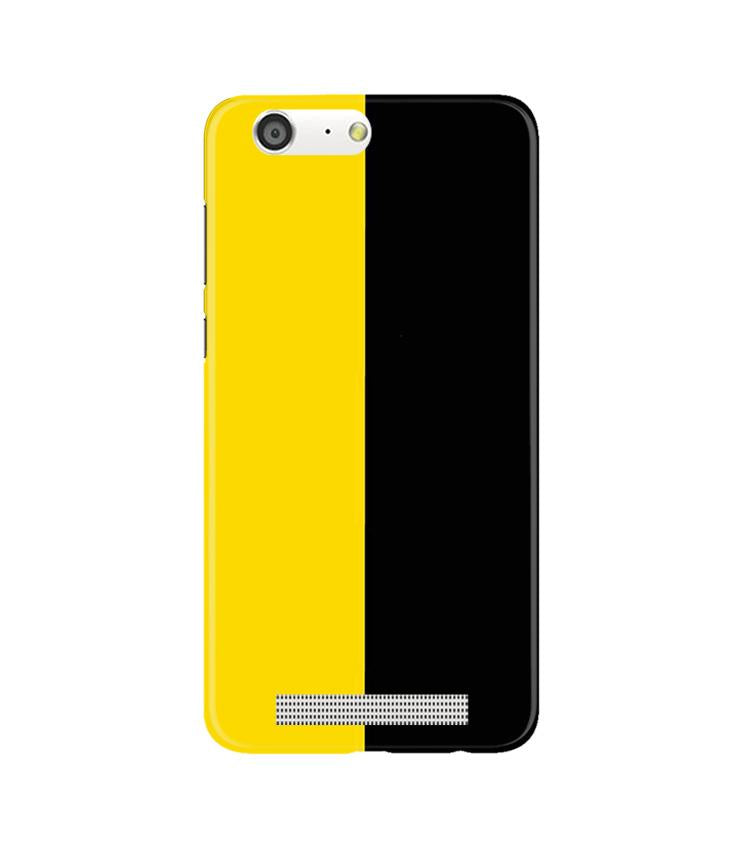 Black Yellow Pattern Mobile Back Case for Gionee M5 (Design - 397)