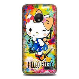 Hello Kitty Mobile Back Case for Moto E4 (Design - 362)