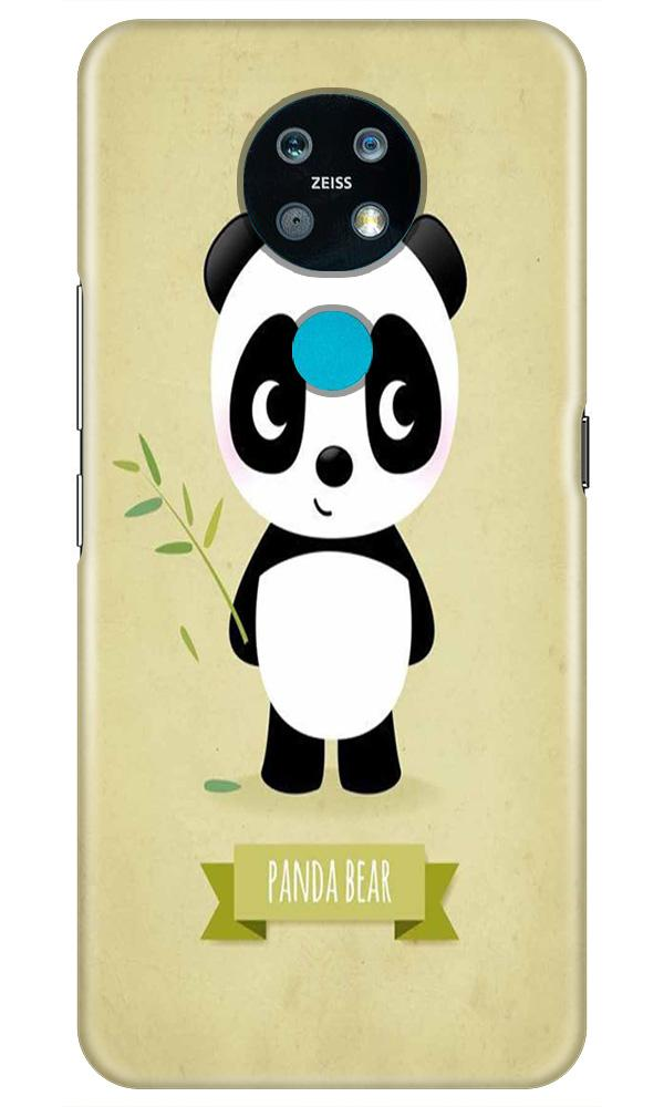 Panda Bear Mobile Back Case for Nokia 7.2 (Design - 317)