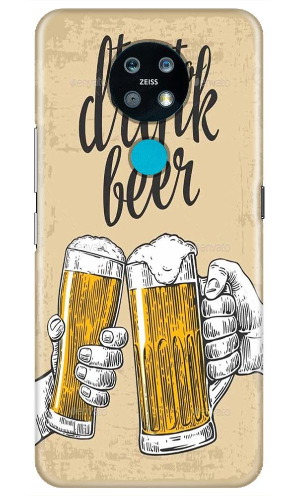 Drink Beer Mobile Back Case for Nokia 7.2 (Design - 328)
