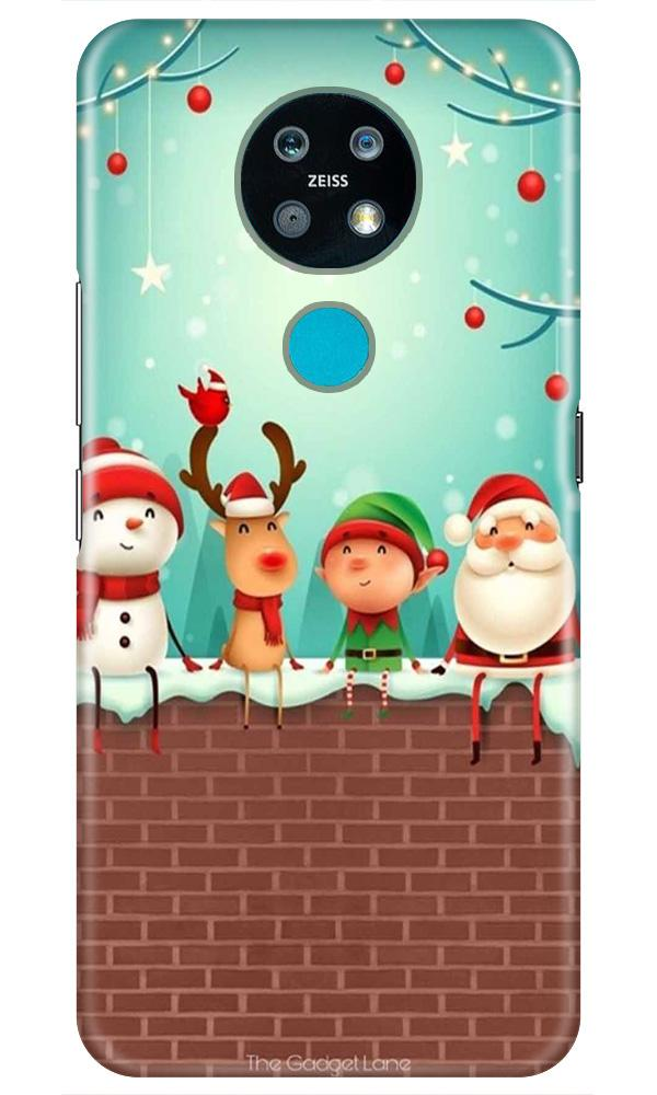 Santa Claus Mobile Back Case for Nokia 7.2 (Design - 334)
