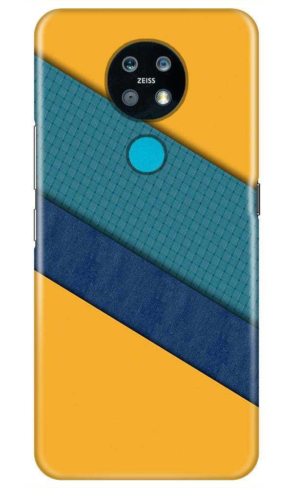Diagonal Pattern Mobile Back Case for Nokia 7.2 (Design - 370)