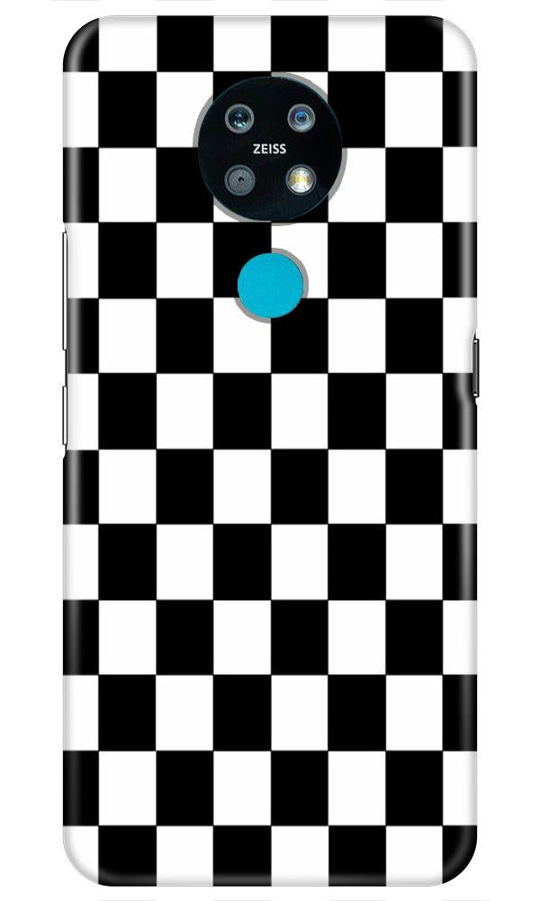 Black White Boxes Mobile Back Case for Nokia 7.2 (Design - 372)