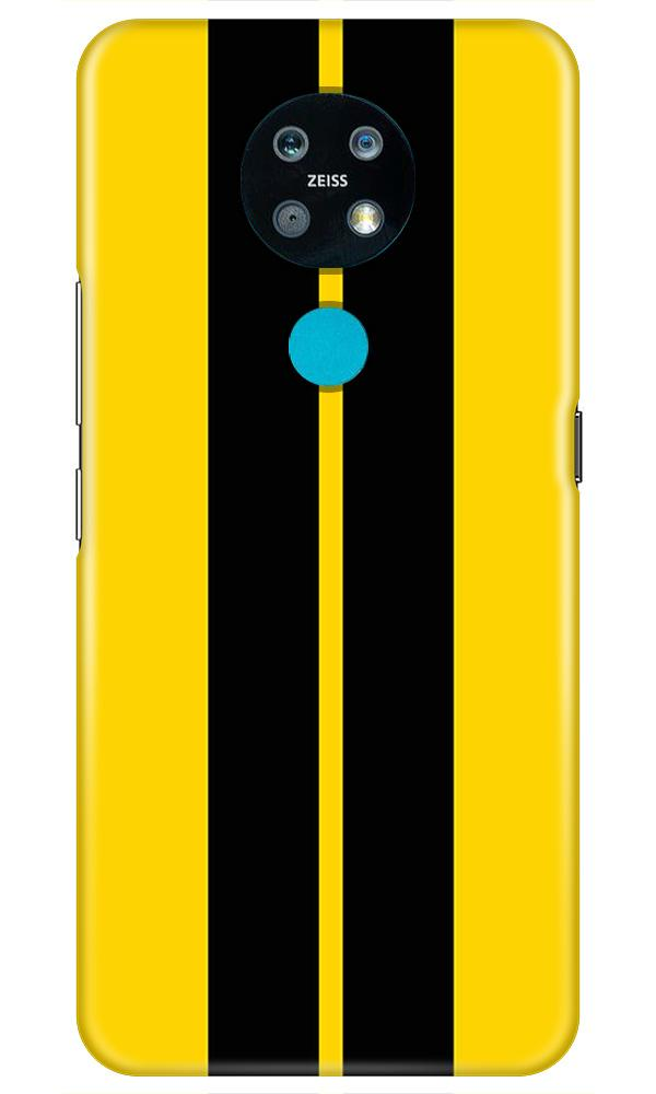 Black Yellow Pattern Mobile Back Case for Nokia 7.2 (Design - 377)