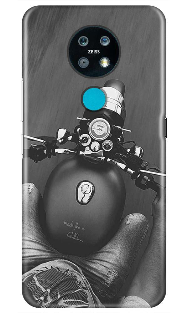 Royal Enfield Mobile Back Case for Nokia 7.2 (Design - 382)