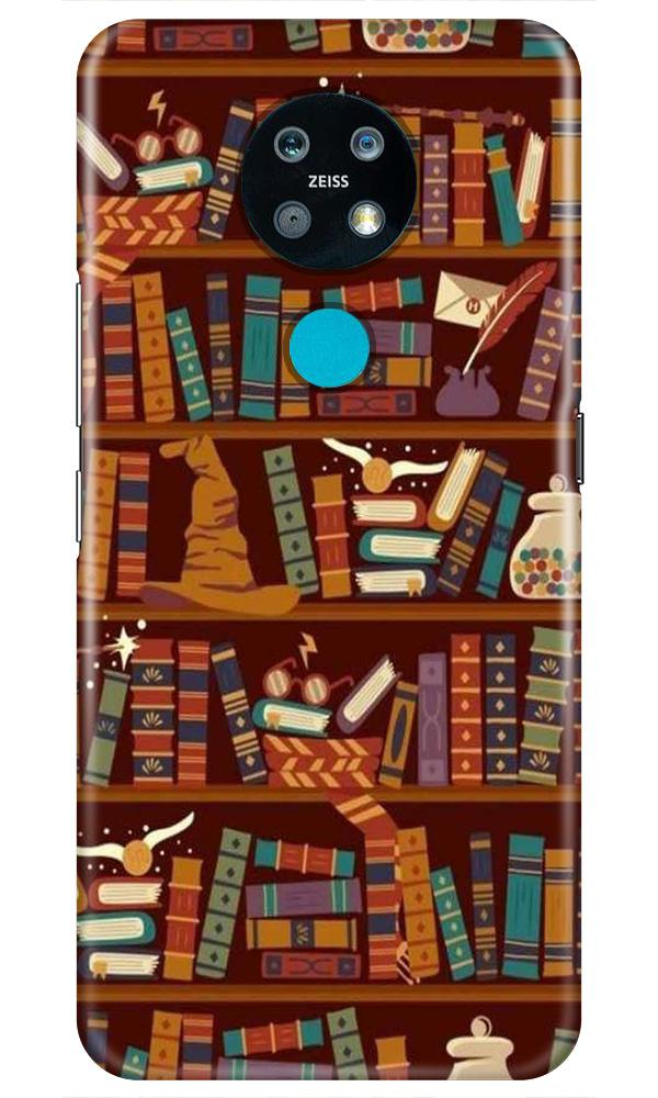 Book Shelf Mobile Back Case for Nokia 7.2 (Design - 390)