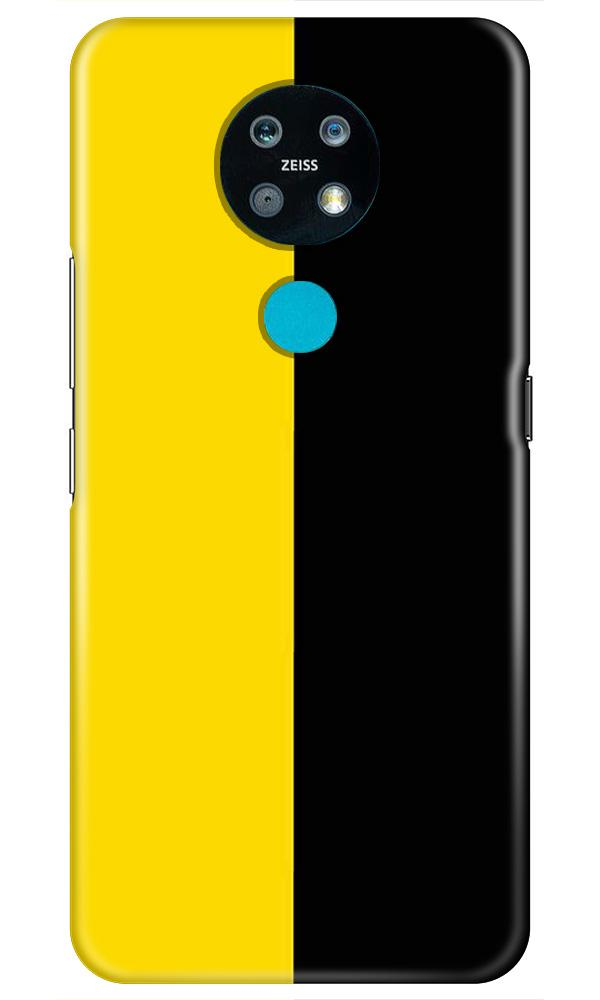 Black Yellow Pattern Mobile Back Case for Nokia 7.2 (Design - 397)