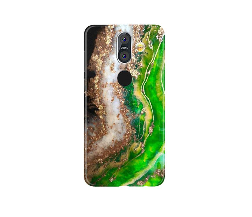 Marble Texture Mobile Back Case for Nokia 8.1 (Design - 307)