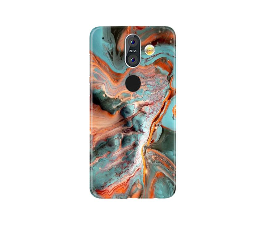 Marble Texture Mobile Back Case for Nokia 8.1 (Design - 309)