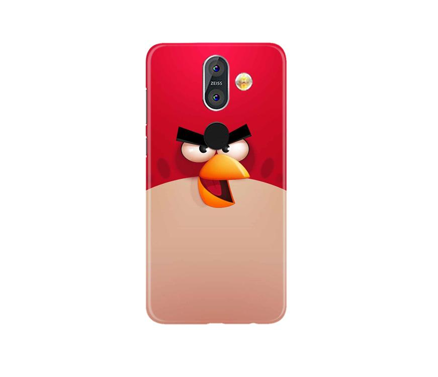 Angry Bird Red Mobile Back Case for Nokia 8.1 (Design - 325)