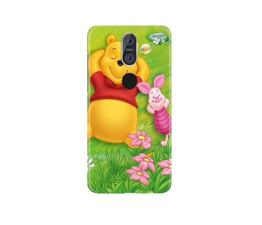 Winnie The Pooh Mobile Back Case for Nokia 8.1 (Design - 348)