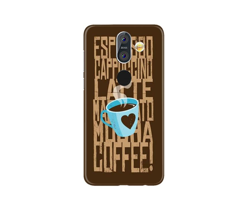 Love Coffee Mobile Back Case for Nokia 8.1 (Design - 351)