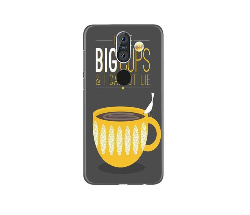 Big Cups Coffee Mobile Back Case for Nokia 8.1 (Design - 352)