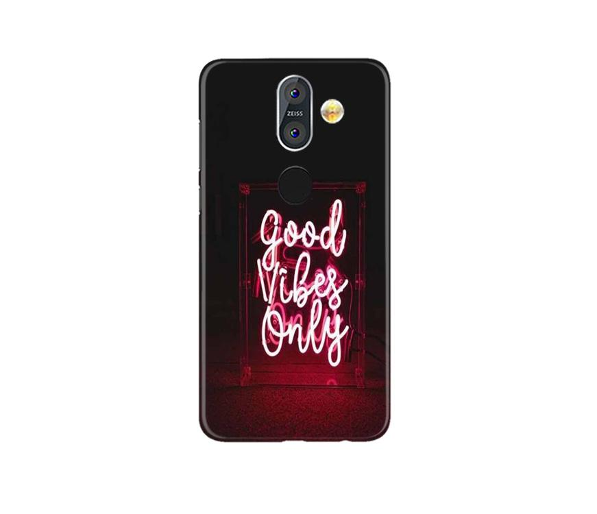 Good Vibes Only Mobile Back Case for Nokia 8.1 (Design - 354)