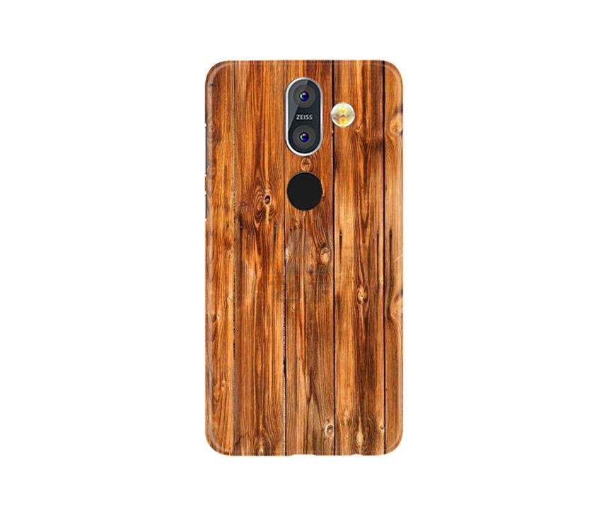 Wooden Texture Mobile Back Case for Nokia 8.1 (Design - 376)