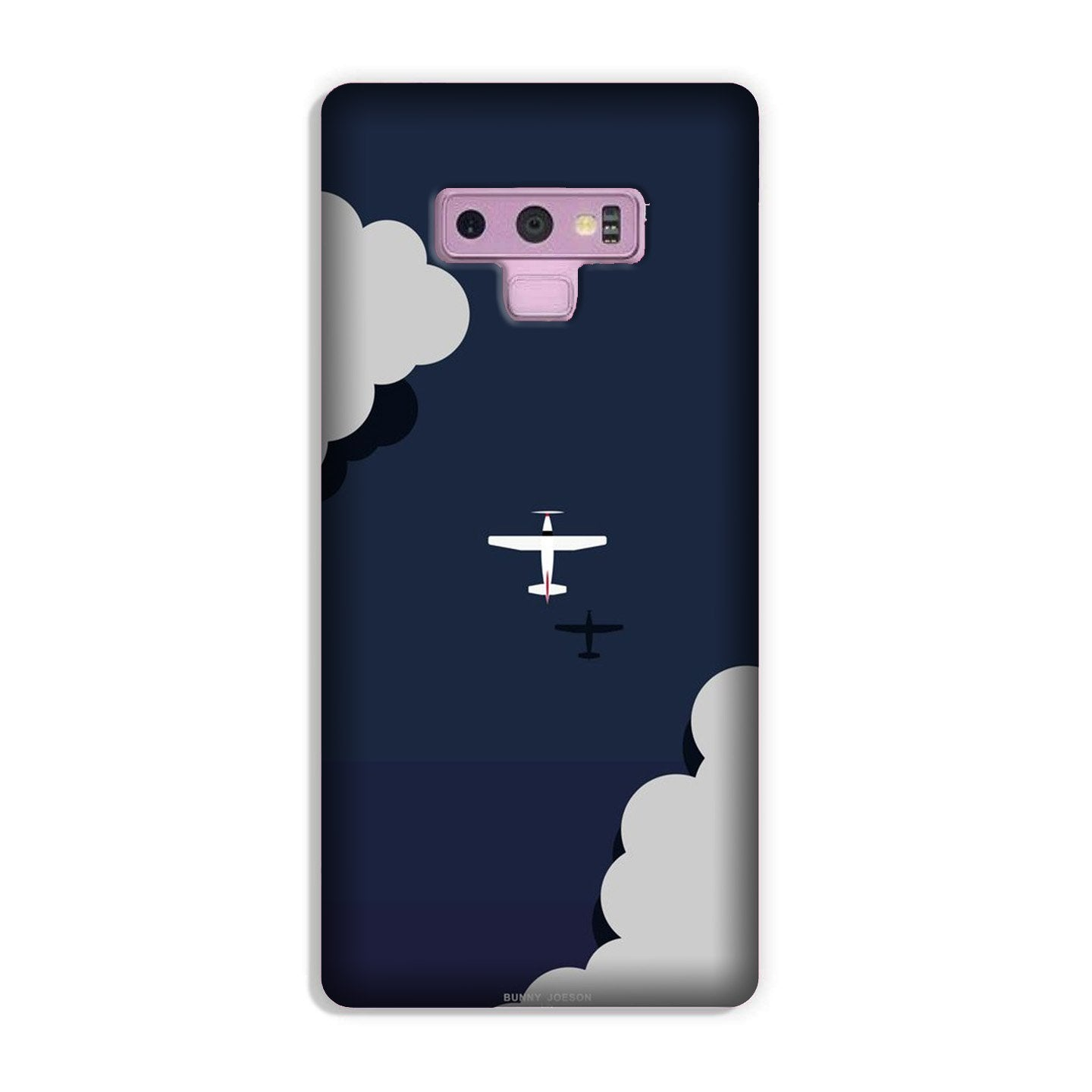 Clouds Plane Case for Galaxy Note 9 (Design - 196)