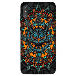 Owl Mobile Back Case for Moto One Power (Design - 360)