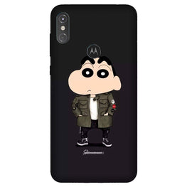 Shin Chan Mobile Back Case for Moto One Power (Design - 391)