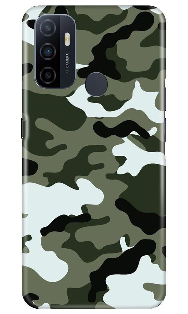 Army Camouflage Case for Oppo A53  (Design - 108)