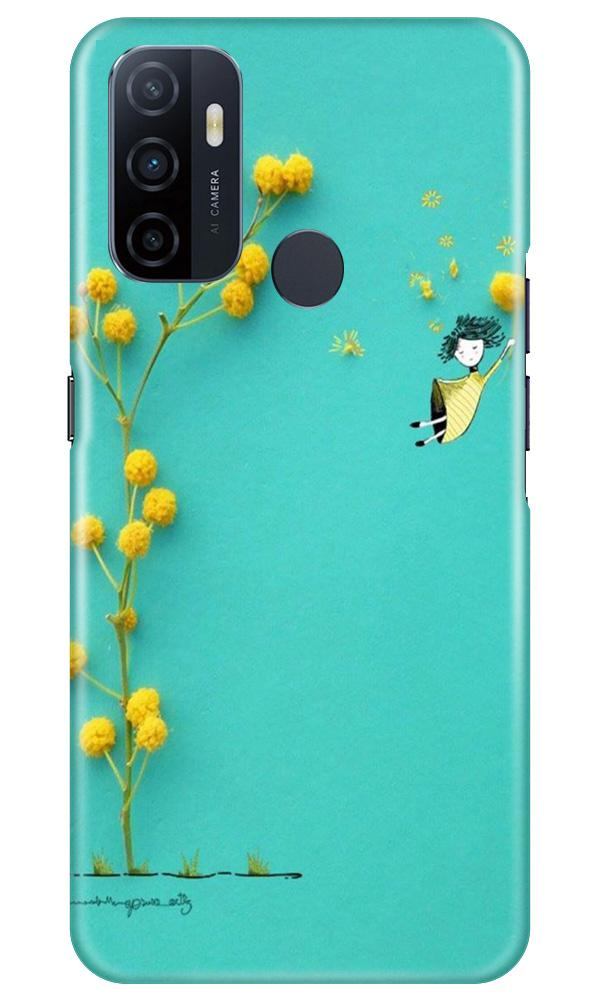 Flowers Girl Case for Oppo A53 (Design No. 216)