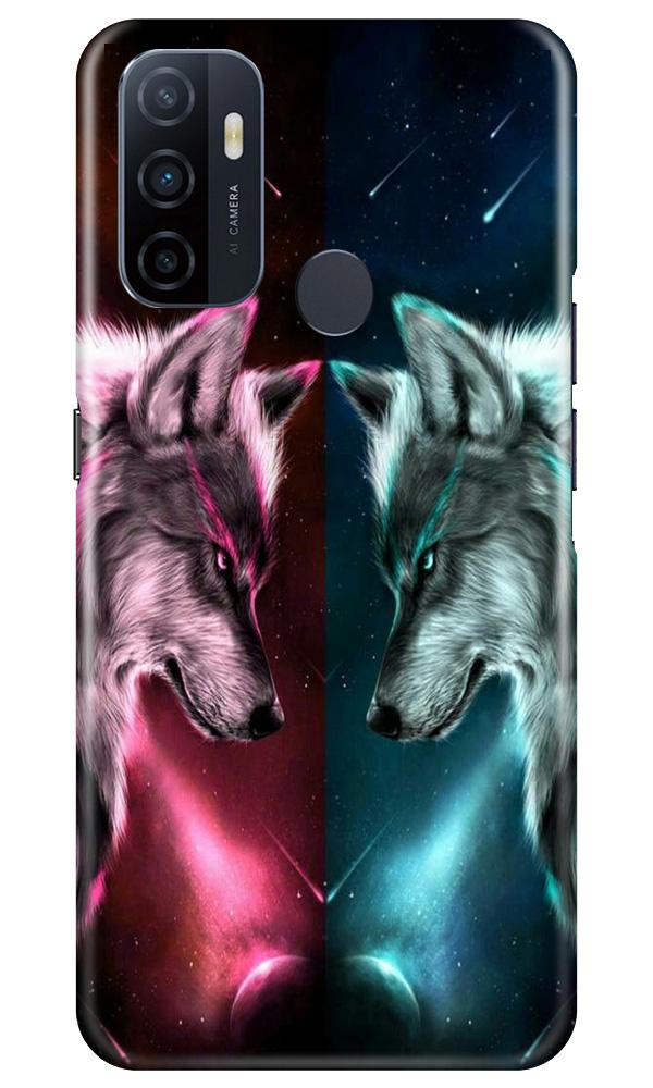 Wolf fight Case for Oppo A53 (Design No. 221)