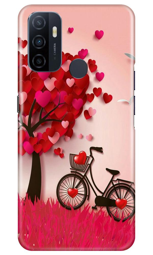 Red Heart Cycle Case for Oppo A53 (Design No. 222)