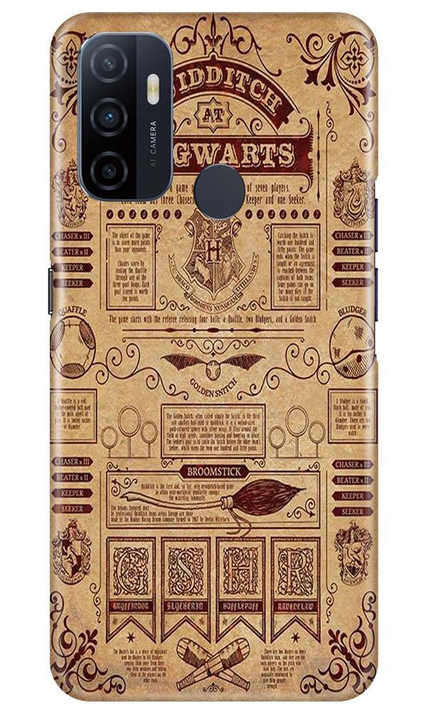 Hogwarts Mobile Back Case for Oppo A33 (Design - 304)