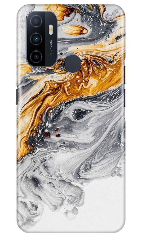 Marble Texture Mobile Back Case for Oppo A33 (Design - 310)