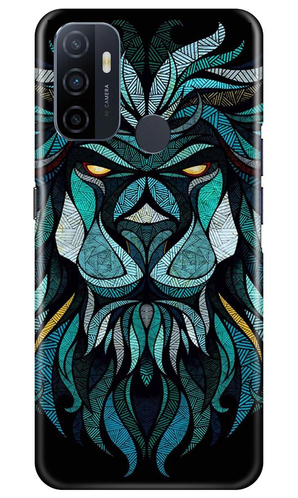Lion Mobile Back Case for Oppo A33 (Design - 314)