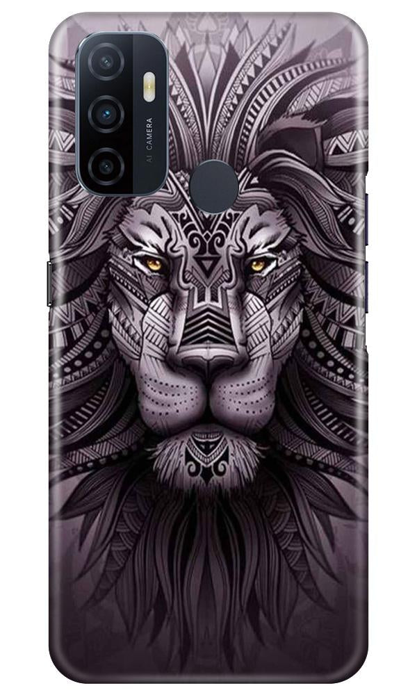 Lion Mobile Back Case for Oppo A33 (Design - 315)