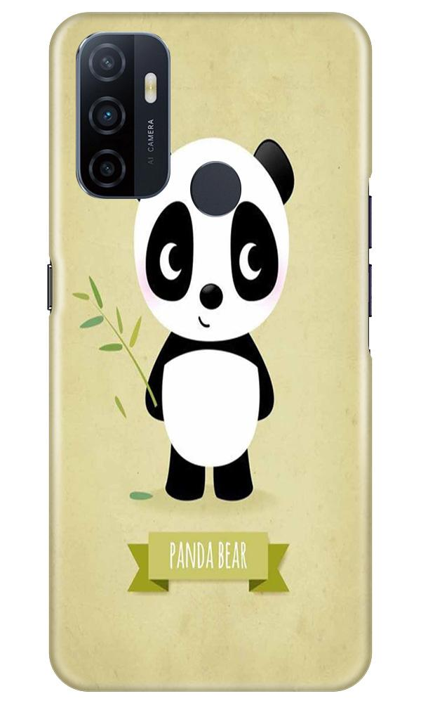 Panda Bear Mobile Back Case for Oppo A33 (Design - 317)