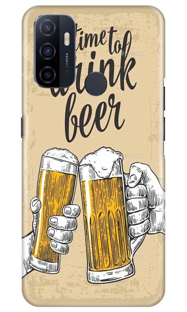 Drink Beer Mobile Back Case for Oppo A33 (Design - 328)