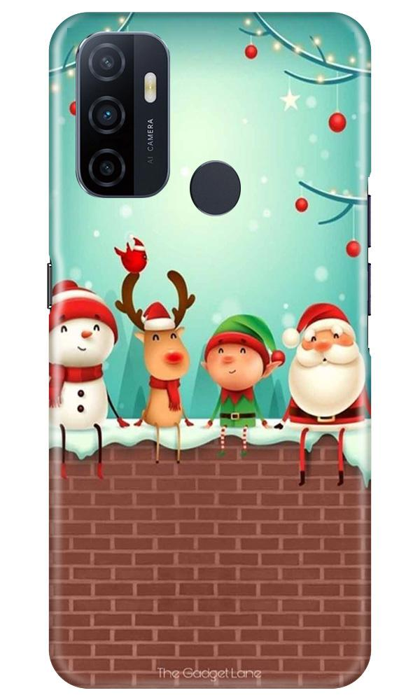 Santa Claus Mobile Back Case for Oppo A33 (Design - 334)