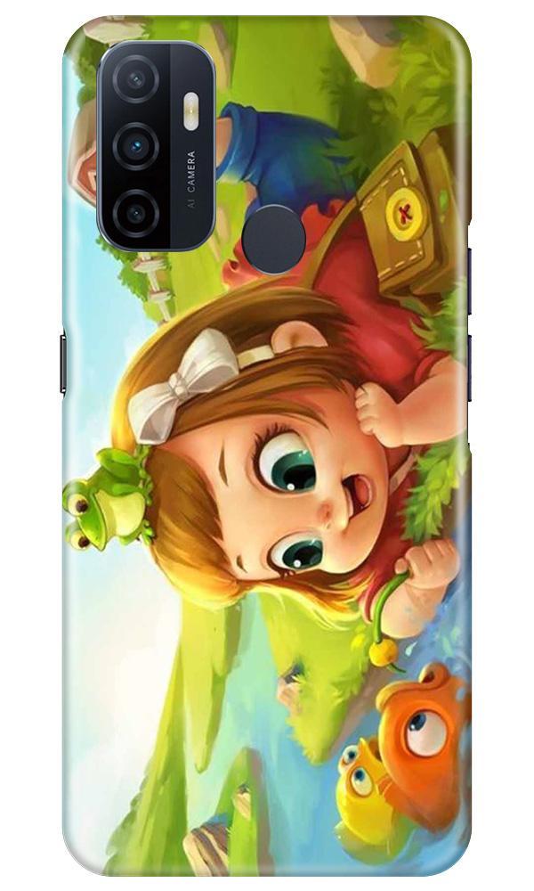 Baby Girl Mobile Back Case for Oppo A33 (Design - 339)