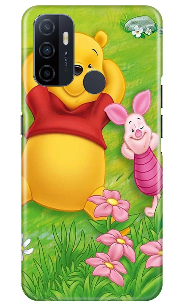 Winnie The Pooh Mobile Back Case for Oppo A53 (Design - 348)