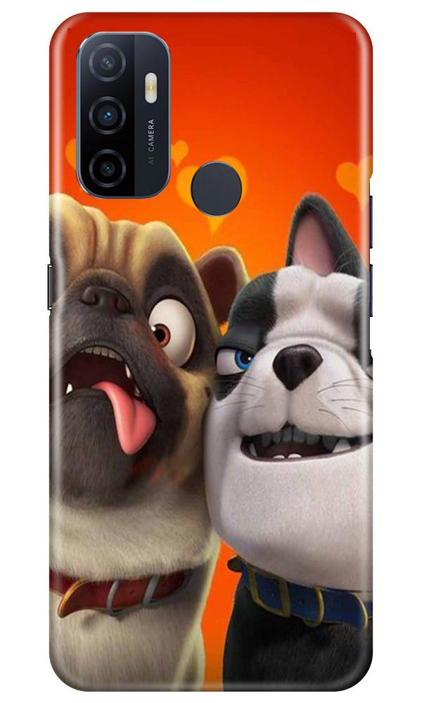 Dog Puppy Mobile Back Case for Oppo A53 (Design - 350)