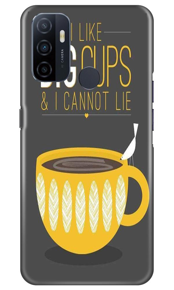 Big Cups Coffee Mobile Back Case for Oppo A53 (Design - 352)
