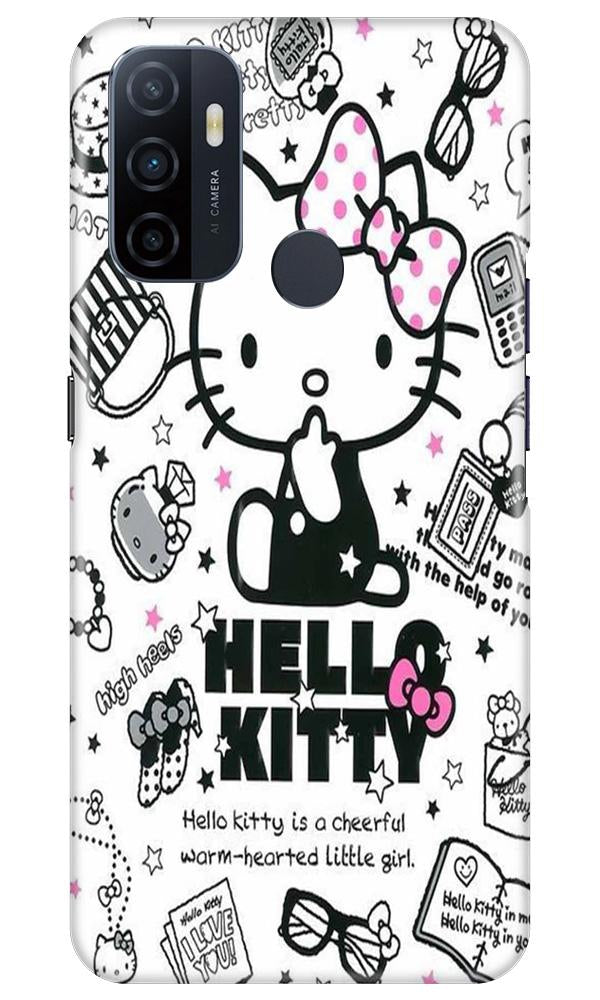 Hello Kitty Mobile Back Case for Oppo A53 (Design - 361)