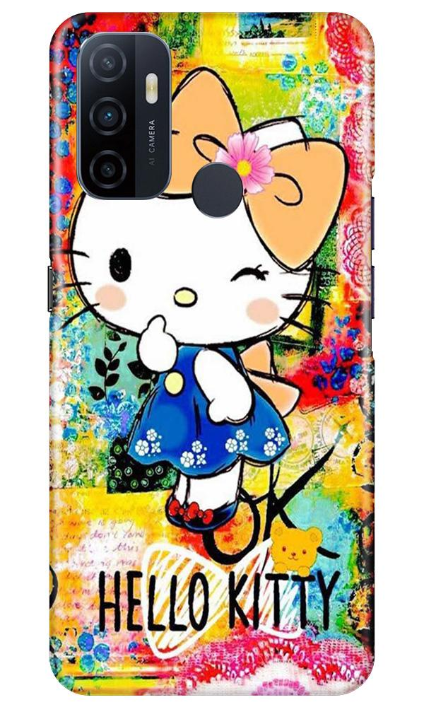 Hello Kitty Mobile Back Case for Oppo A53 (Design - 362)