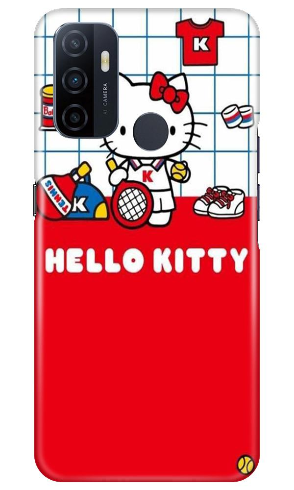 Hello Kitty Mobile Back Case for Oppo A53 (Design - 363)