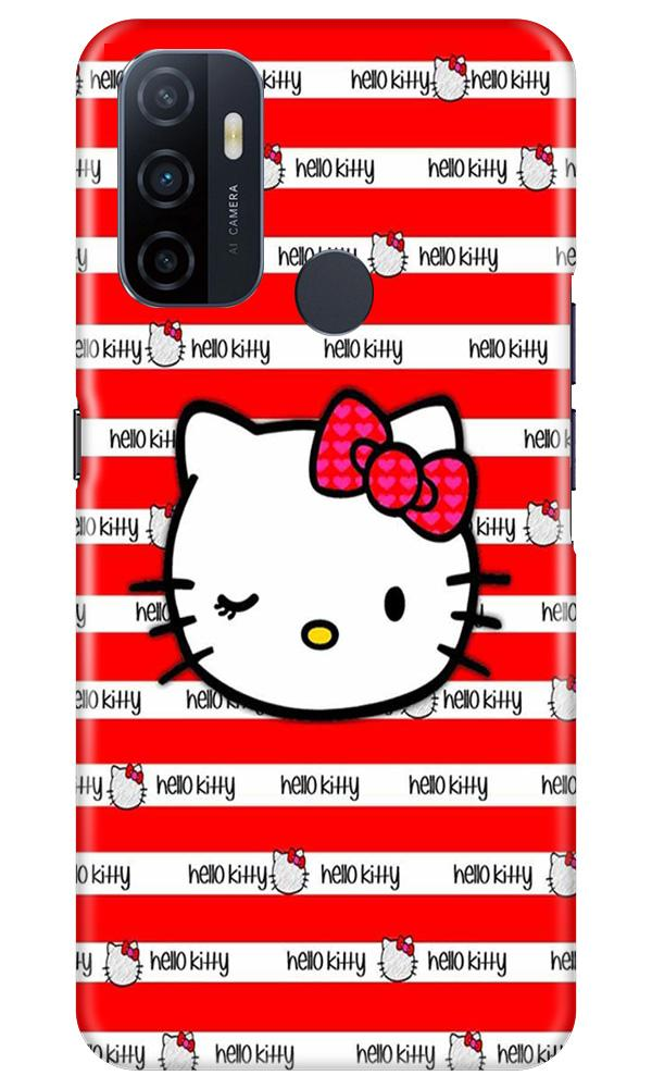 Hello Kitty Mobile Back Case for Oppo A53 (Design - 364)