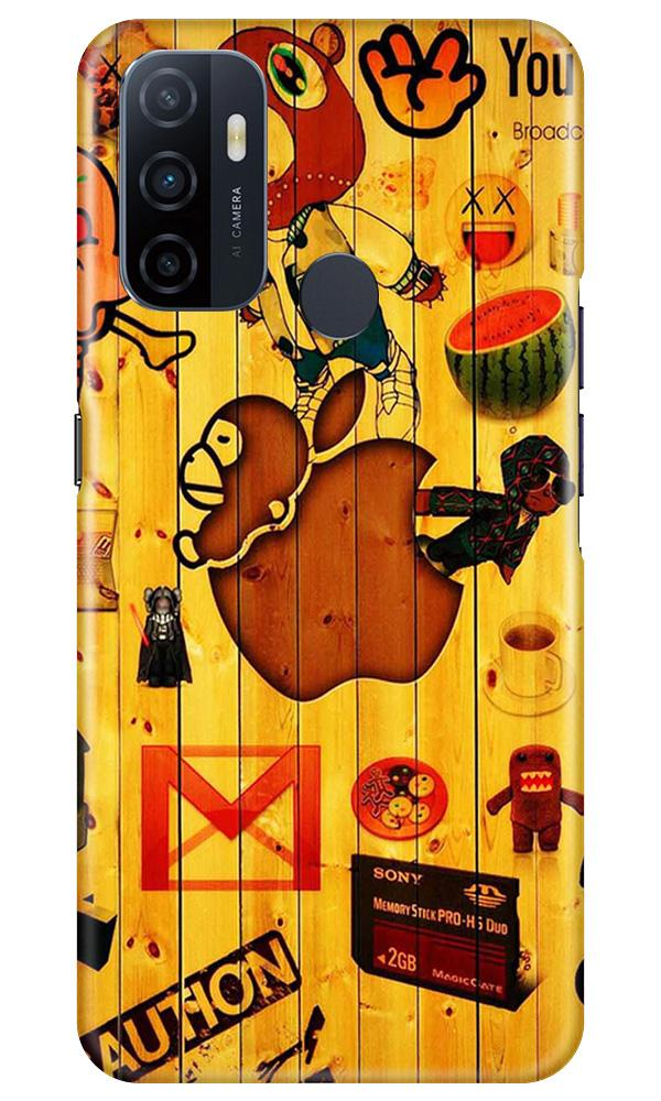Wooden Texture Mobile Back Case for Oppo A53 (Design - 367)