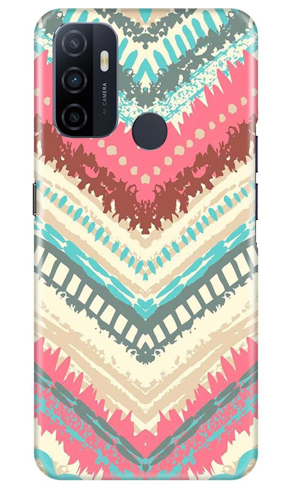 Pattern Mobile Back Case for Oppo A53 (Design - 368)