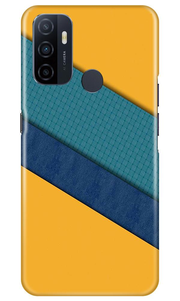 Diagonal Pattern Mobile Back Case for Oppo A53 (Design - 370)