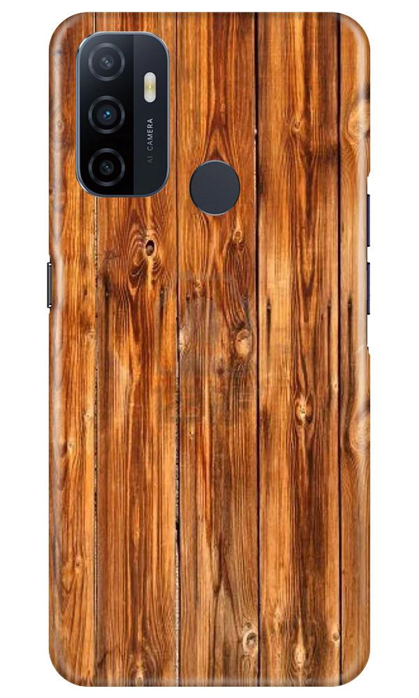 Wooden Texture Mobile Back Case for Oppo A53 (Design - 376)