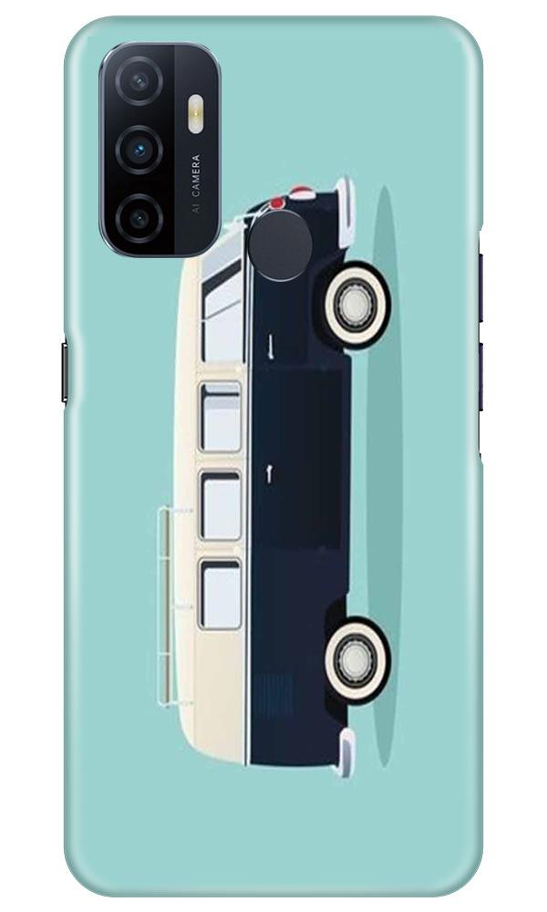 Travel Bus Mobile Back Case for Oppo A33 (Design - 379)