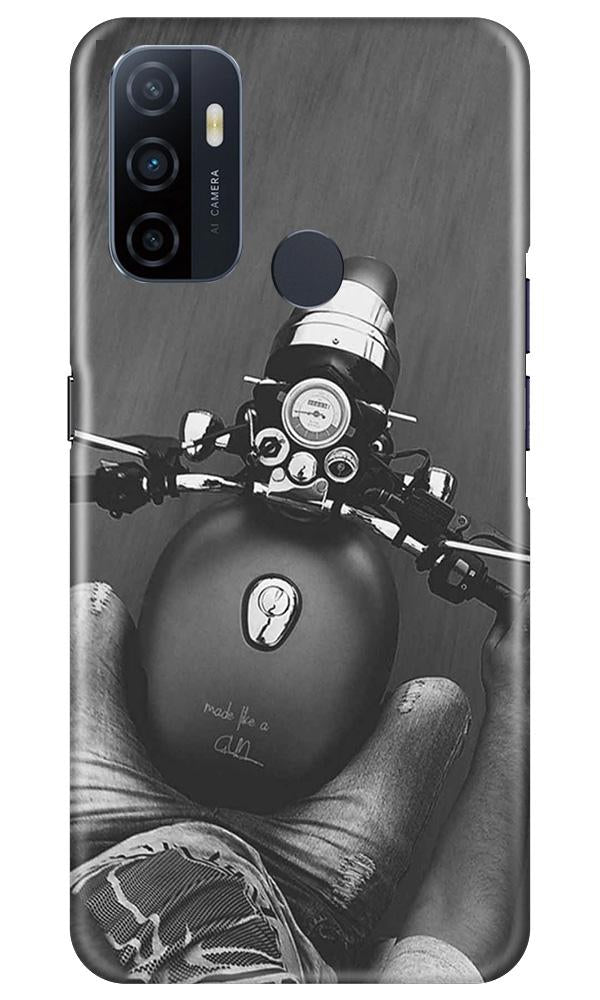 Royal Enfield Mobile Back Case for Oppo A53 (Design - 382)