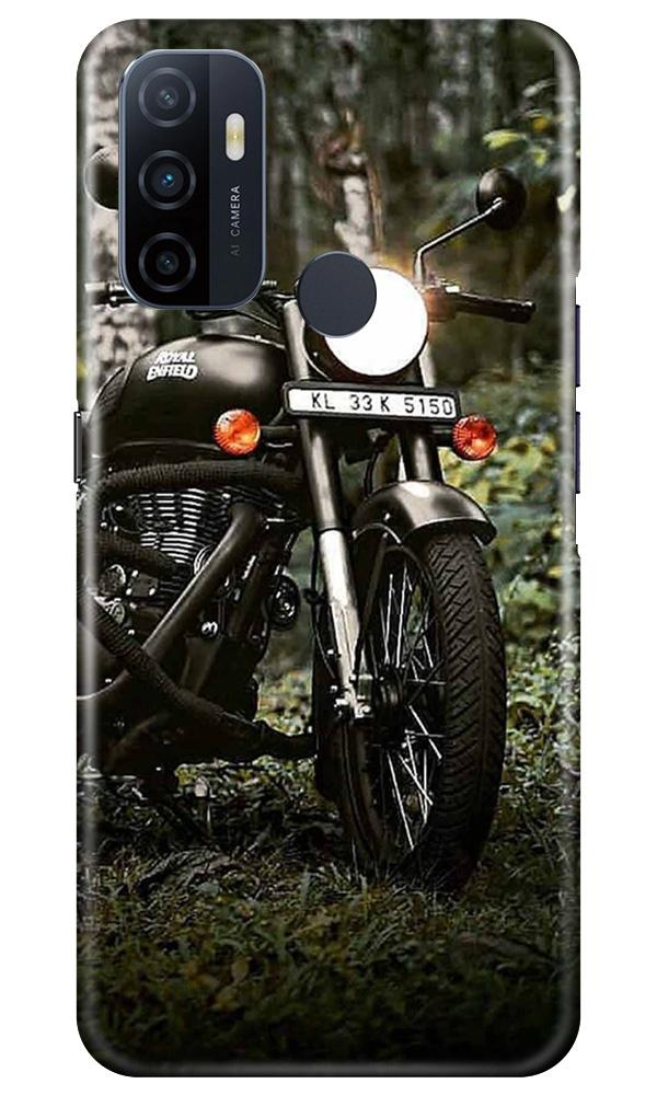 Royal Enfield Mobile Back Case for Oppo A53 (Design - 384)